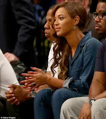 beyonce and jay z look carefree at basketball game hours after