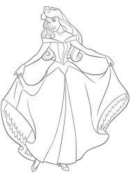 Coloriage Princesse Aurore à imprimer sur COLORIAGES info