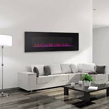 wall mount electric fireplace heater glass firestone living room