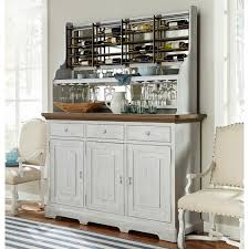 paula deen dogwood credenza with wine rack hayneedle