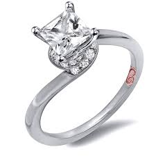 unique princess cut engagement rings twisted princess cut engagement rings demarco bridal jewelry