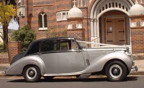 bentley classic classic 2 tone silver vintage wedding car