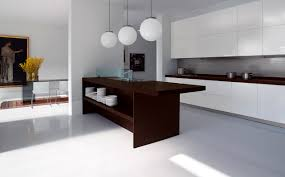 l shape kitchen design and decoration using hanging ball white