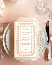 program menu and stationery templates martha stewart weddings
