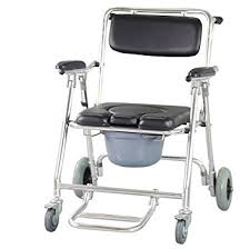 Shower Chair On Wheels Amazon Com Funwill Mobile Commode Chair Toilet Bathing Shower