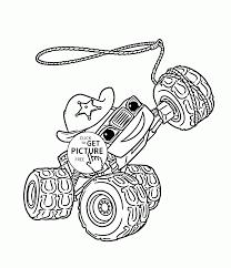 blaze monster truck starla coloring page for kids transportation