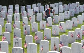 Grave Marker Flags With Tens Of Thousands Of Flags Boy Scouts Honor Those Buried At