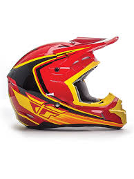 childrens motocross helmet fly racing red black yellow 2016 kinetic fullspeed kids mx helmet