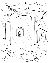 a coloring page for kids from the story great flood with and pages