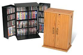 Oak Dvd Storage Cabinet Solid Wood Dvd Storage Small Locking Media Storage Cabinet At