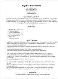 resume template office exle of office manager resume exles of resumes