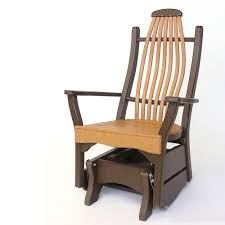 Outdoor Single Glider Chair Gliders U0026 Settees The Amish Craftsmen Guild Ii