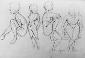 rough sketch studies the female form by whiskers777 on deviantart