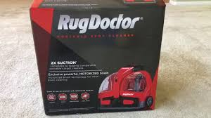 Portable Rug Doctor Brand New Rugdoctor Portable Carpet Cleaner Unboxing Youtube