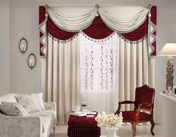 Long White Curtains Bedroom Luxury Living Room Decoration With Long White And Red