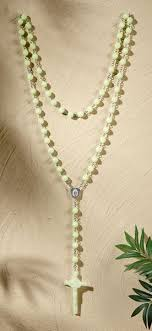 glow in the rosary madonna our of grace luminous glow in the wall rosary 56