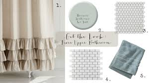 Curtains With Ruffles Get The Look Fixer Upper Bathroom House Of Hargrove
