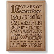 10 year anniversary gift for 10th wedding anniversary wall plaque gifts for