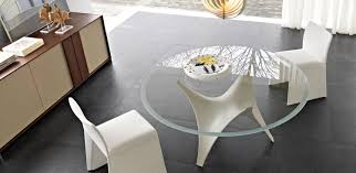 Modern Glass Kitchen Table Modern Round Glass Dining Table Molteni Arc 03 Stylehomes Net