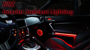 frs interior brz ambient lighting installed youtube