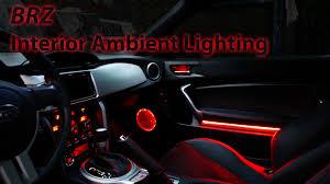 custom subaru brz interior brz ambient lighting installed youtube