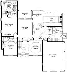 house plans open floor plan 654732 4 bedroom 45 bath house with open floor plan house 4