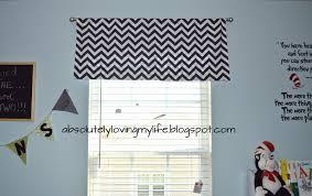 How To Make A No Sew Window Valance Loving Life Diy No Sew Chevron Curtains