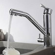 contemporary single handle kitchen faucet chrome finish