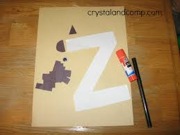 letter of the week z is for zebra preschool craft