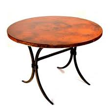 Copper Top Dining Room Tables Round Wrought Iron Dining Tables You U0027ll Love Artisan Crafted