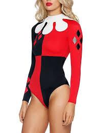 harley quinn cosplay costume halloween bodysuit 15112117