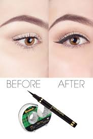 liquid eyeliner tips scotch tape tips to perfect your liquid