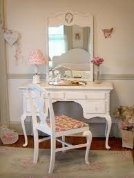 white vanity desk with mirror house decorations