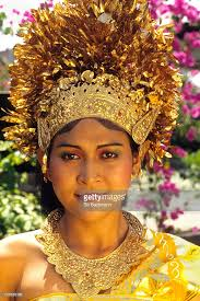 wedding dress bali a in a traditional wedding dress in bali indonesia stock