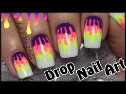 n gel selber designen einfache bunte tropfen nägel selber machen easy nail design