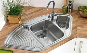 stainless corner sink two square and small triangle shape stainless corner kitchen sinks
