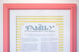 framed family proclamation corina s corner family proclamation or a proclamation to the world