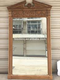 french provincial wood carving full length decorative mirror