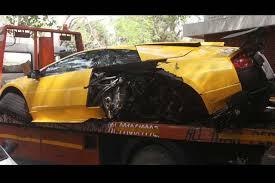 lamborghini sports car price in india lamborghini murcielago found abandoned after crash in delhi the