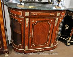 french empire cabinet sideboard kingwood marble top credenza