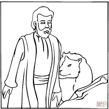 daniel coloring page free printable coloring pages