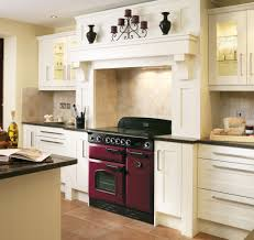 rangemaster classic 90 range cooker in cranberry dark red and