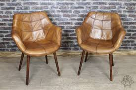 Vintage Brown Leather Armchair Tan Leather Chair Vintage Style Bucket Armchair
