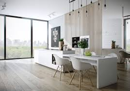 Kitchen Island With Table Attached by 20 Sleek Kitchen Designs With A Beautiful Simplicity