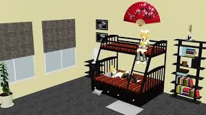 Cartoon Bunk Beds by Mmd Simple Bedroom Stage With Bunk Bed Dl By Onimau619 On Deviantart