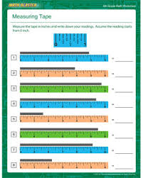 measuring tape u2013 free measuring worksheet for 6th graders u2013 math