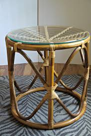 wicker side table with glass top mid century bentwood side table 85 houston http furnishly com