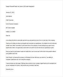 thank you resignation letter templates 8 free word pdf format