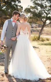 wedding dreses a line wedding dresses with illusion lace essense of australia
