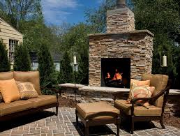 Backyard Fireplaces Ideas Garden Unique Fire Rock Outdoor Fireplaces At Patio With Classic